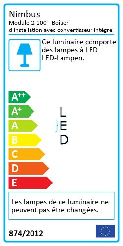Module Q 100 - Boîtier d'installation avec convertisseur intégréEnergy Label