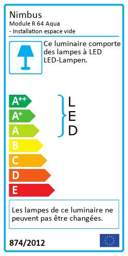 Module R 64 Aqua - Installation espace videEnergy Label