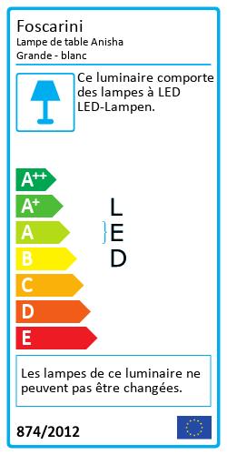 Lampe de table Anisha GrandeLabel énergétique