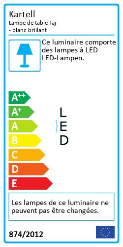 Lampe de table TajLabel énergétique