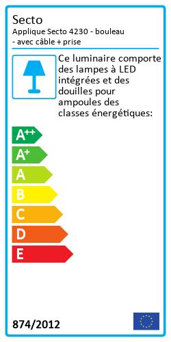 Applique Secto 4230 Label énergétique
