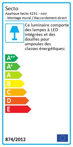 Applique Secto 4231 Label énergétique