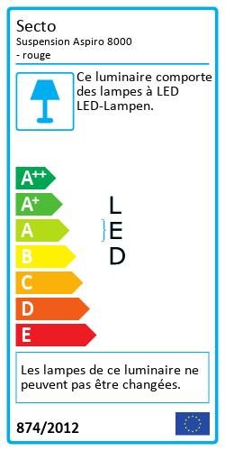 Suspension Aspiro 8000 Label énergétique