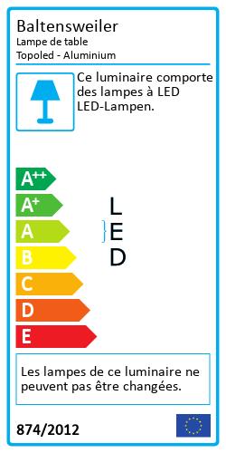 Lampe de table TopoledLabel énergétique